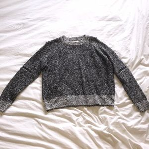 Cropped Black and White Sweater